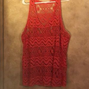 Women's crocheted tank
